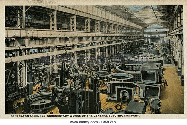 Image result for vintage postcard general electric factory