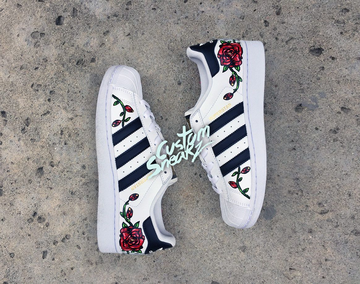 adidas superstar flower embroidery - femme