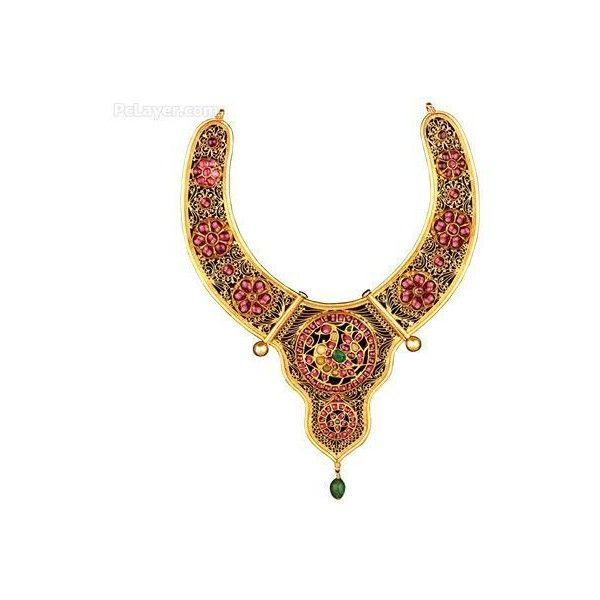 Indian Antique Gold Jewellery Pictures ❤ liked on Polyvore
