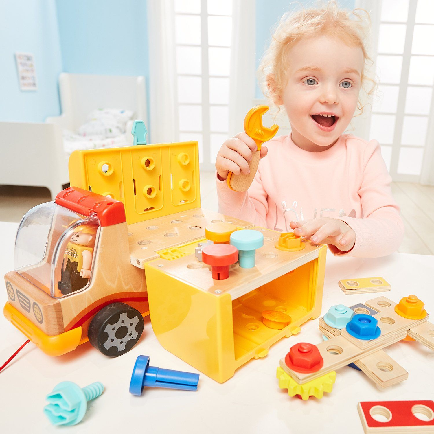 TOP BRIGHT Toddler Toys Tool Set For 2 3 Year Old Boy ...
