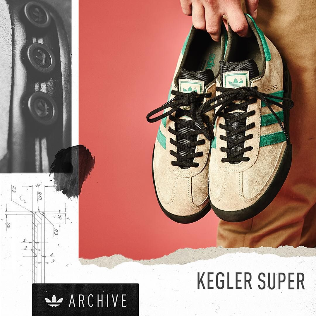 new concept cf3a8 6a798 The size  exclusive  adidasoriginals archive Kegler Super is available  online now via direct links on our Facebook and Twitter pages and in size …""