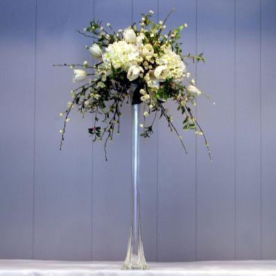 Martini vases,tower vases,fish bowls wedding centrepieces table - decorar jarrones altos