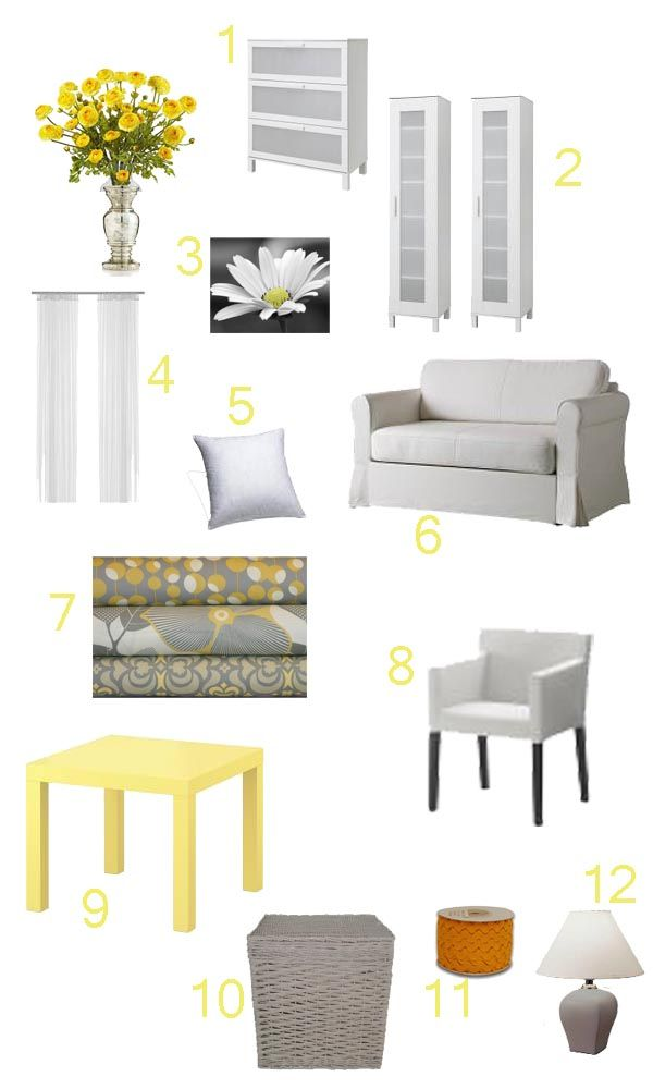 Yellow And Gray Living Room Living Room Sitting Room