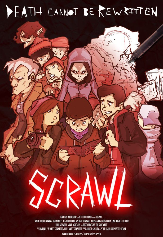 Scrawl (2015) 1h 22min | Fantasy, Horror | 17 October 2015 (USA) - A boy writes a comic book with his best friend, and finds situations depicted in the comic book coming to life. Along with the appearance of a mysterious girl, the boy is forced to face the...