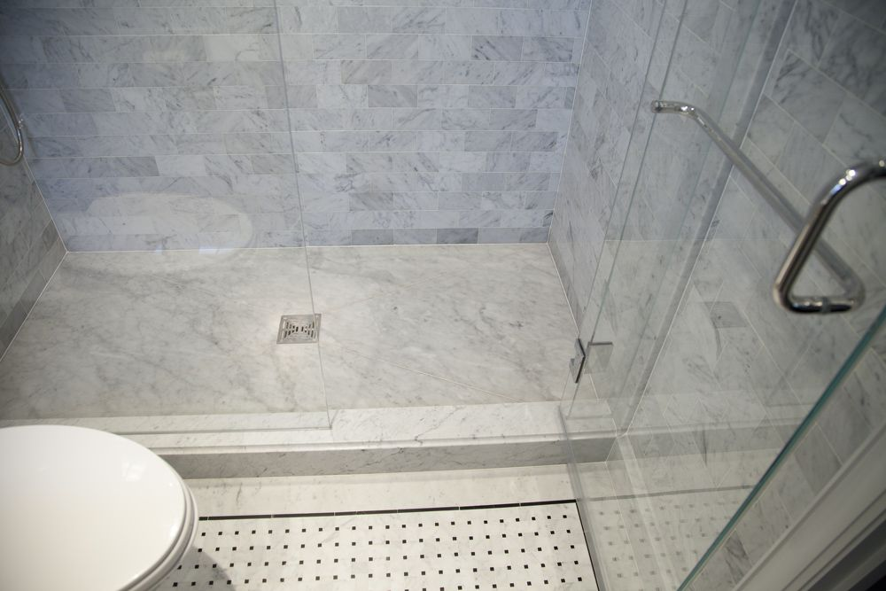 The Shower Floor Is Made From Slab And Cut Into An Envelope Pattern So It  Can Be Sloped Towards The Drain.