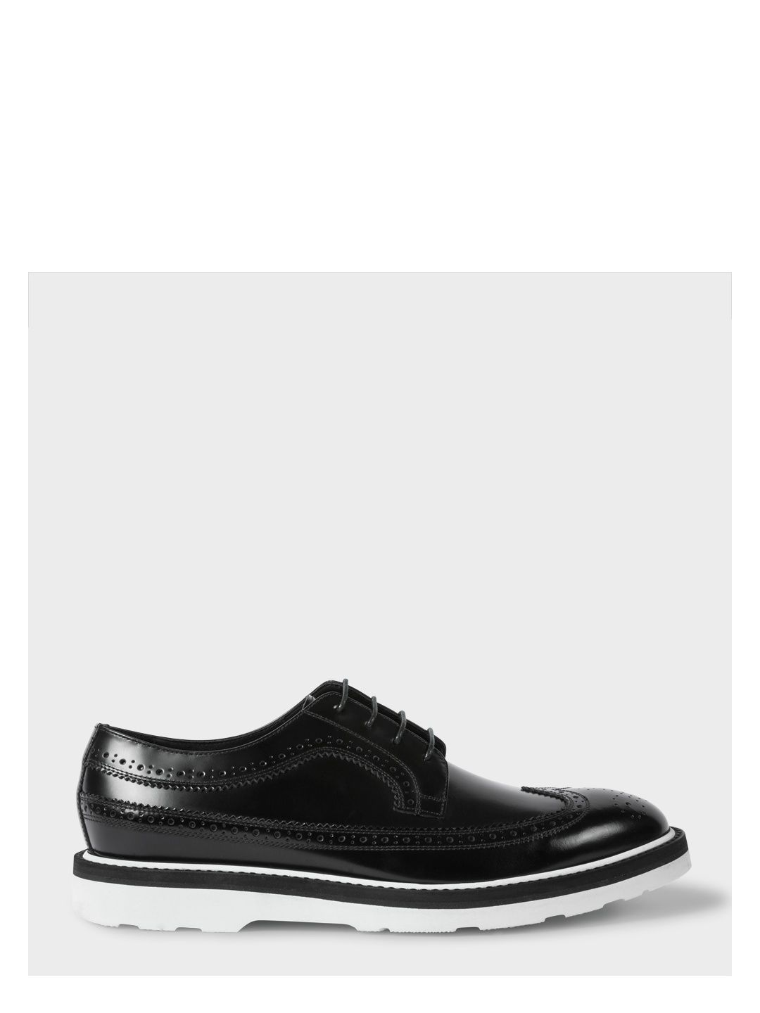 66937166c9c PAUL SMITH Men's Black Leather 'Grand' Brogues With White Soles. #paulsmith  #shoes #
