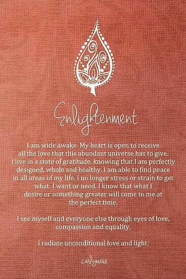 I radiate unconditional love and light.
