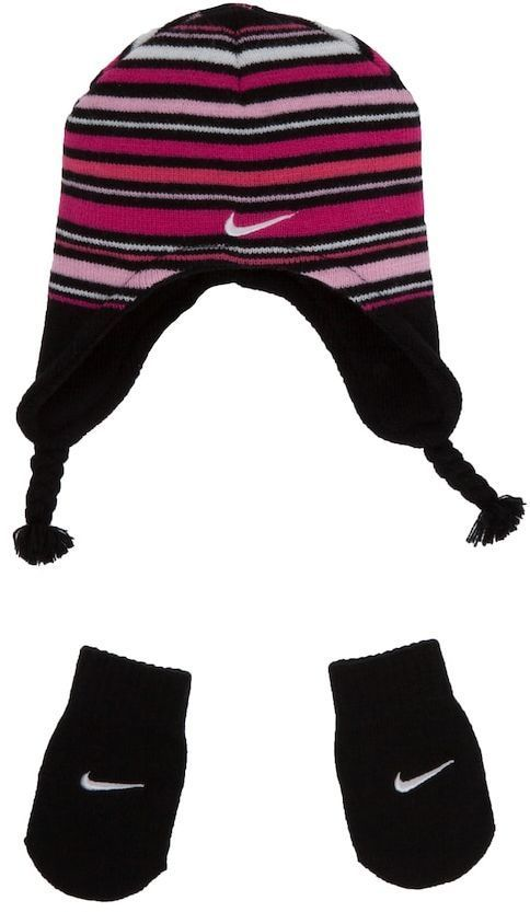 d1bcda64b17d3 Nike Stripe Beanie Hat and Mittens Set - Toddler Nike Outfits