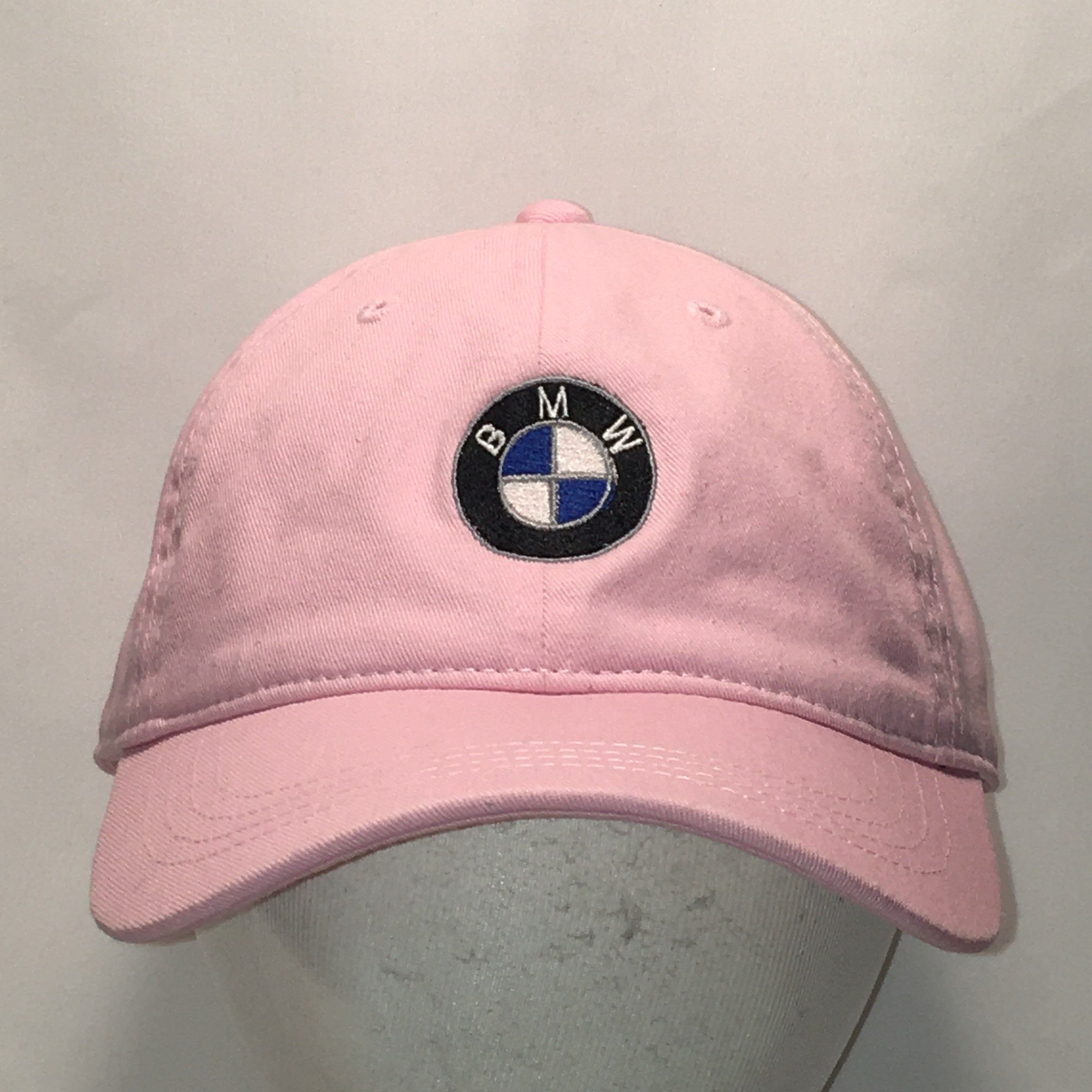 Vintage BMW Strapback Hat Pink Womens Baseball Hats Mom
