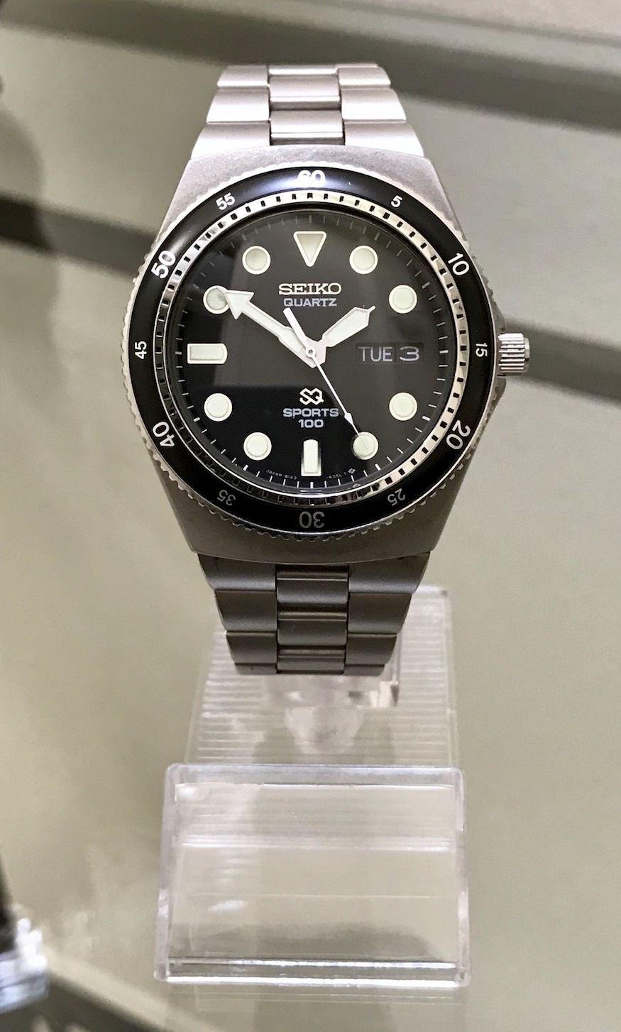 b77a1438928aca FS  Vintage Seiko 8123-6260 Sports 100 Quartz Diver  (newoldstockwatches gmail.com)