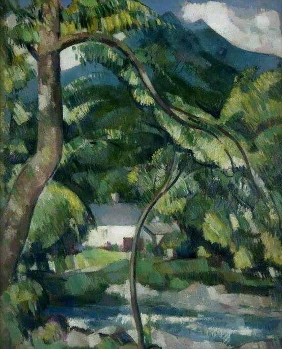 John Duncan Fergusson - The Roadman's House, St Fillans (1944)