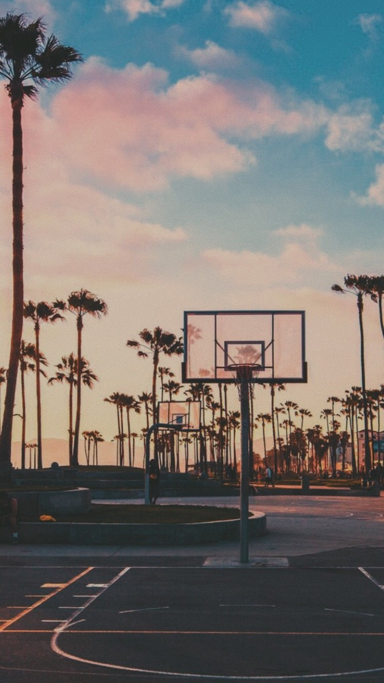 Hoops Sky Aesthetic Los Angeles Wallpaper Aesthetic Backgrounds