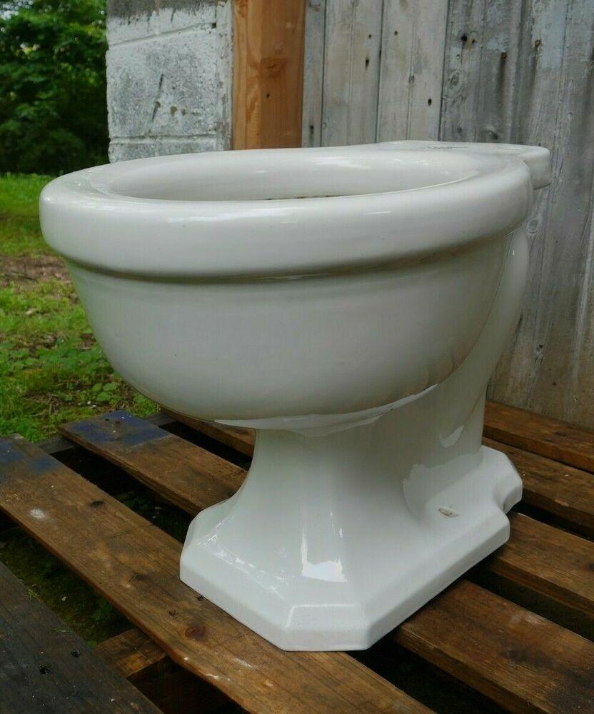 Antique Vintage American Standard Siacto Rear Spud Toilet Bowl F3088 1920 S 1 American Americanstandard Toilet Bowl Antiques American Vintage