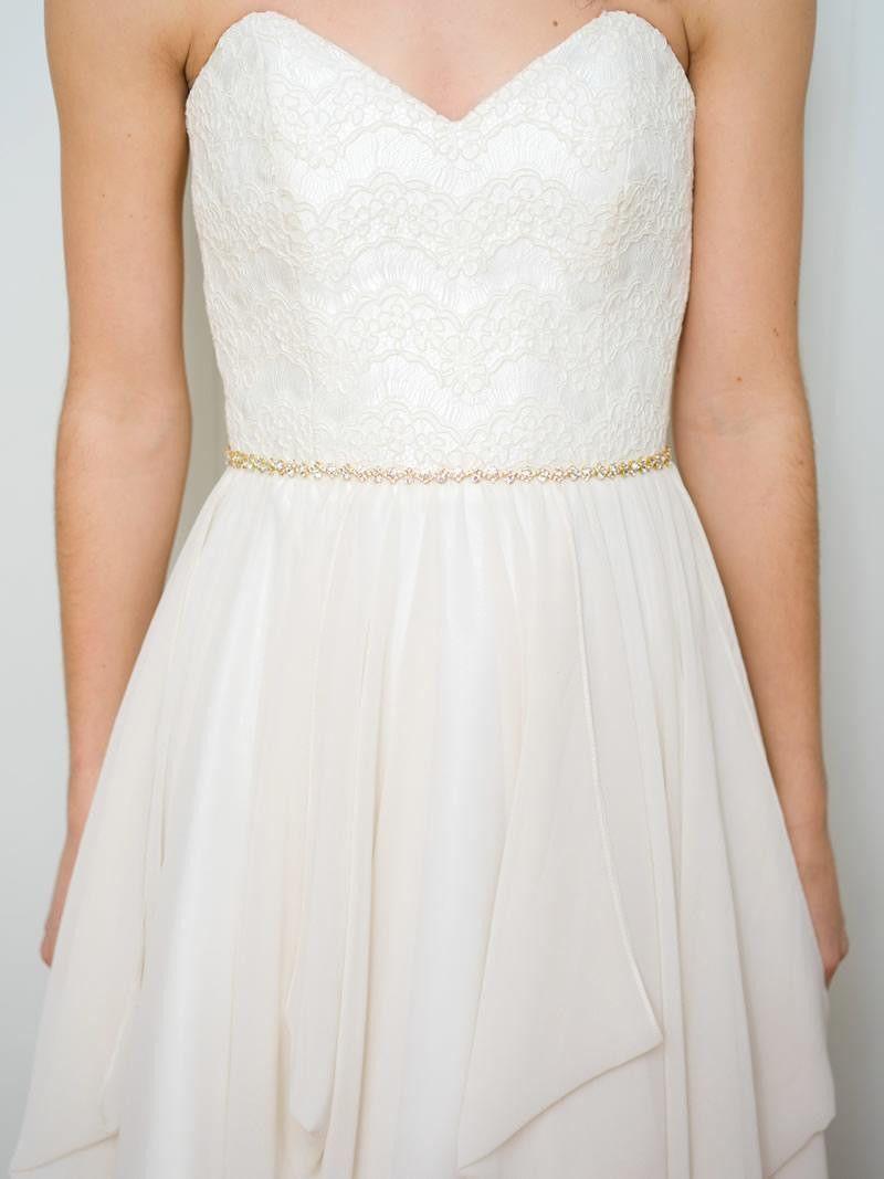 Gold belt for wedding dress  Cleo sash  Wedding dress sash