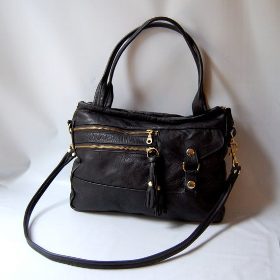 5 pocket Vigga tote bag in black
