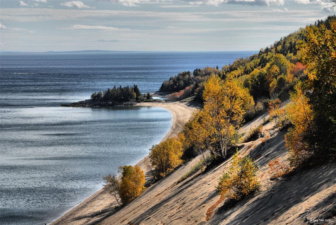 St Lawrence River, and Tadoussac Dunes de sable (sand dunes)…  Tadoussac, QC. Canada