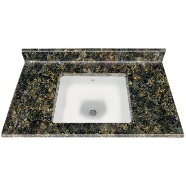 22 X37 Square Bowl Granite Vanity Top Uba Tuba