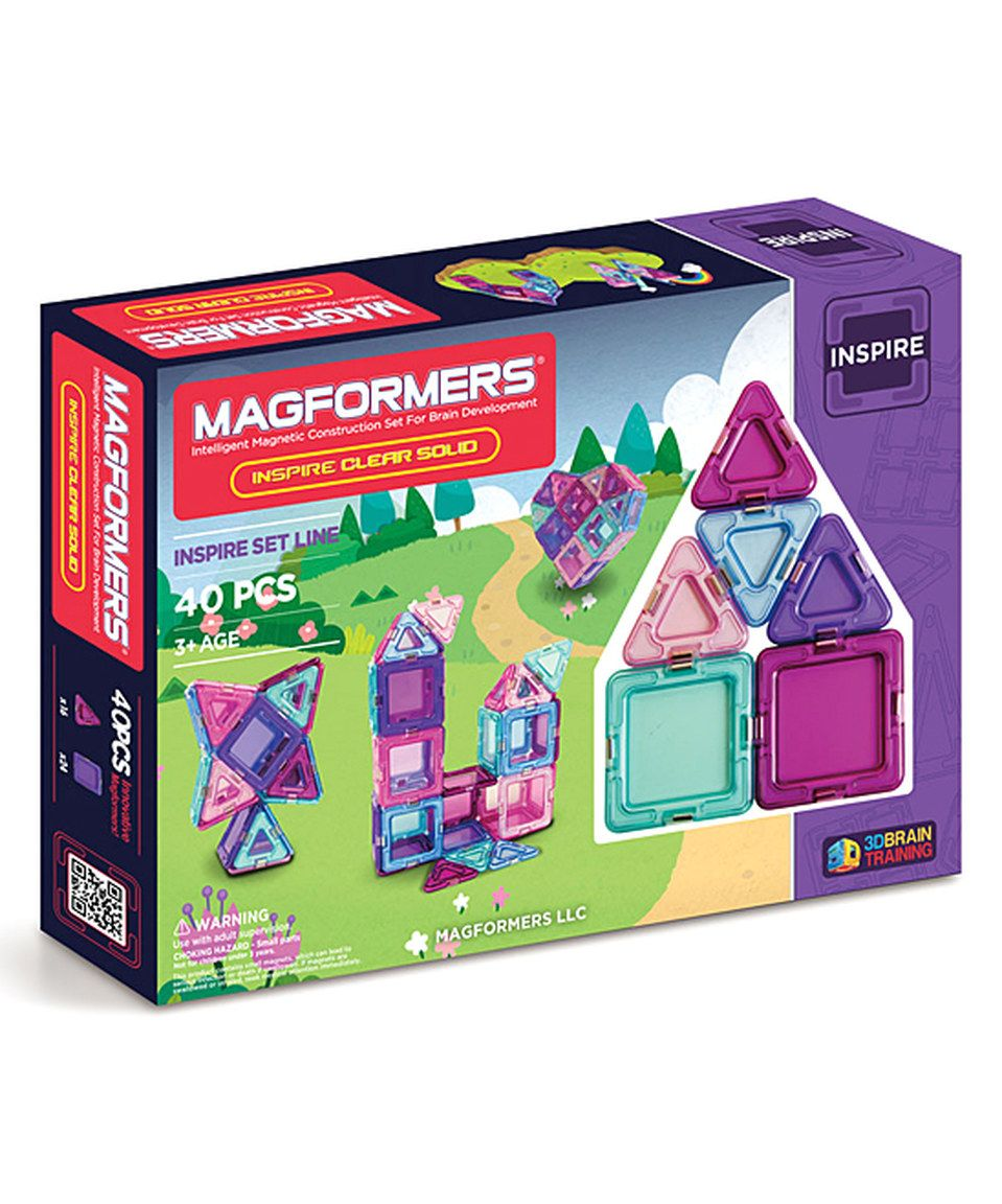 Look what I found on #zulily! Magformers Inspire Clear Solids 40-Piece Building Set by Magformers #zulilyfinds