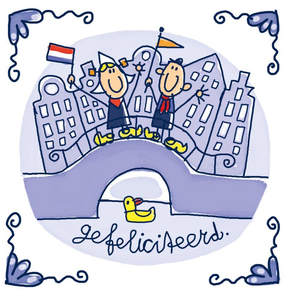 Pin Van Juf In Een Klas Op Thema Nederland Gefeliciteerd Verjaardag Kaarten Verjaardagskaarten