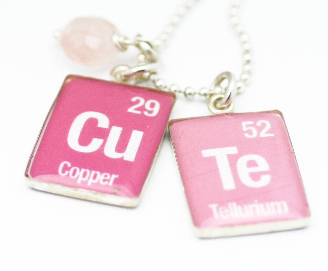 Periodic table necklace element word necklace pink cute periodic table necklace element word necklace pink cute pendants sterling silver by sugarsidewalk on gamestrikefo Gallery