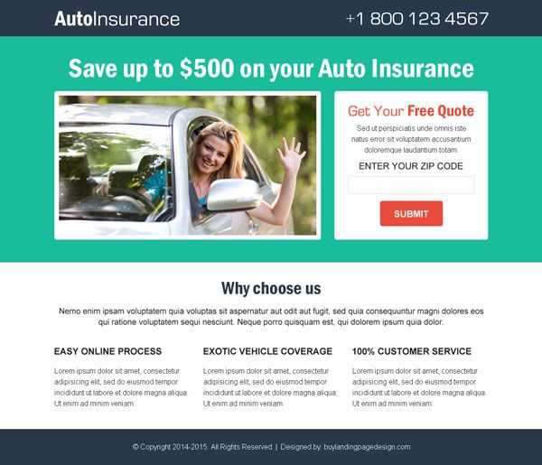 Online Quotes For Car Insurance: Pin By Landing Page On Converting Landing Pages