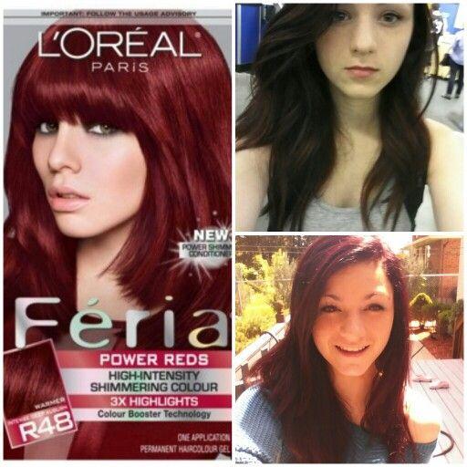 L Oreal Feria R48 Red Velvet Results