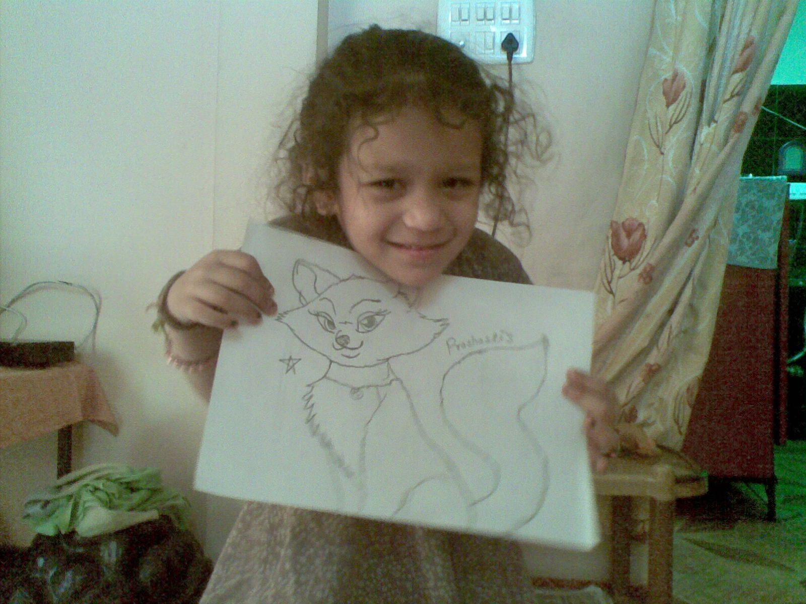 My daughter's draw miau's sketch :)