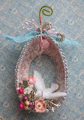 How sweet is this little easter ornaments?! It's from theadventuresofbluegirlxo.blogspot.com