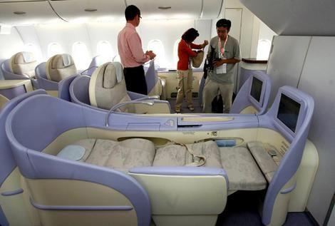 Airbus A380: als je toch eens zo zou kunnen slapen in een vliegtuig!
