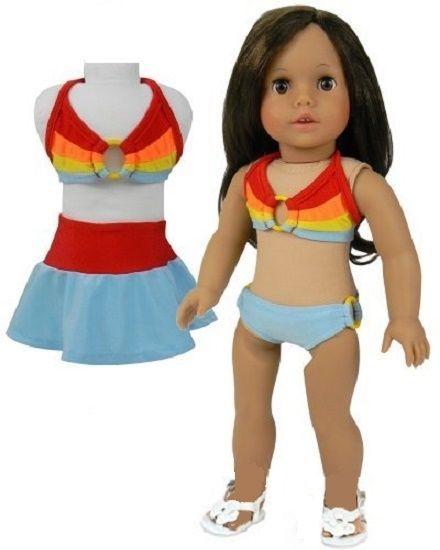0c518fb21 Lovvbugg Rainbow Bikini Skirt Set for 18