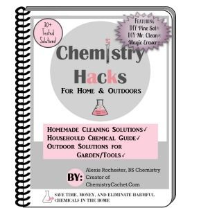 The book book pinterest chemistry and cleaning solutions chemistry hacks for home and outdoors purchase now by alexis rochester bs professional chemistry an easy to use ebook full of over 30 diy solutions for fandeluxe Choice Image