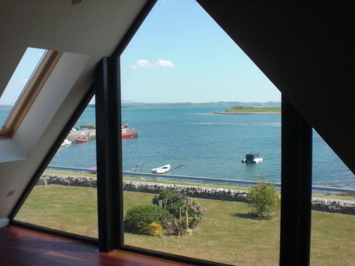Triangle Window With Sea View Triangle Window Island House Mezzanine Bedroom