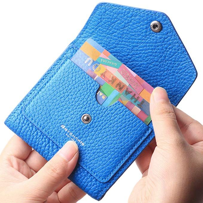Borgasets Women s RFID Blocking Small Compact Bifold Leather Pocket Wallet  Ladies Mini Purse Limited Sapphire Blue 99a113ada