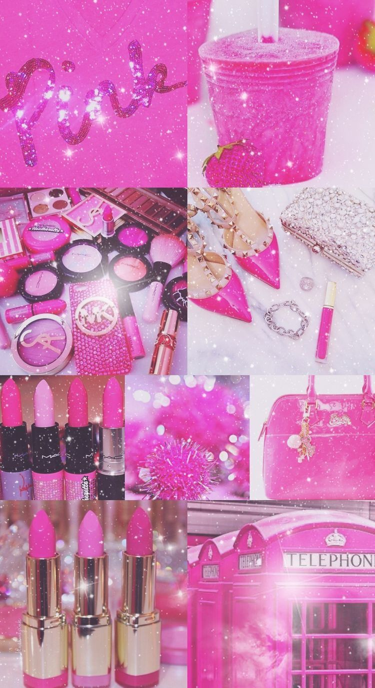 Hot Pink Glitter Aesthetic
