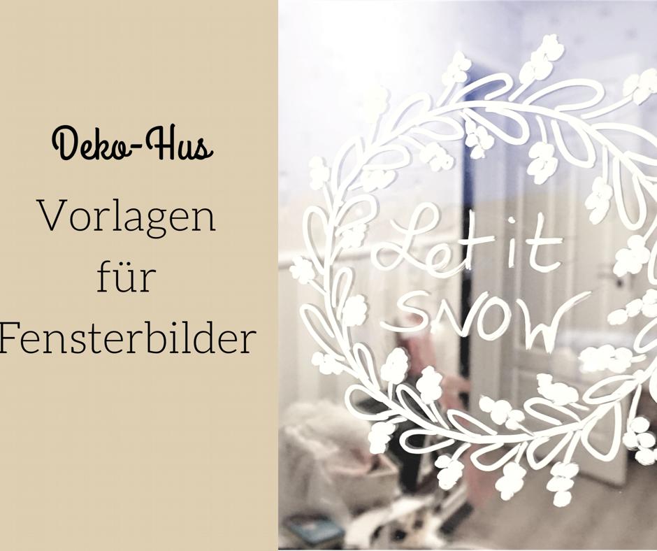 Fensterbilder Weihnachten Vorlagen kostenlos - Deko-Hus