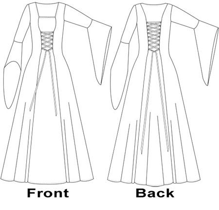 Gallery For Medieval Clothing Pattern Sewing Pinterest Mesmerizing Medieval Dress Pattern