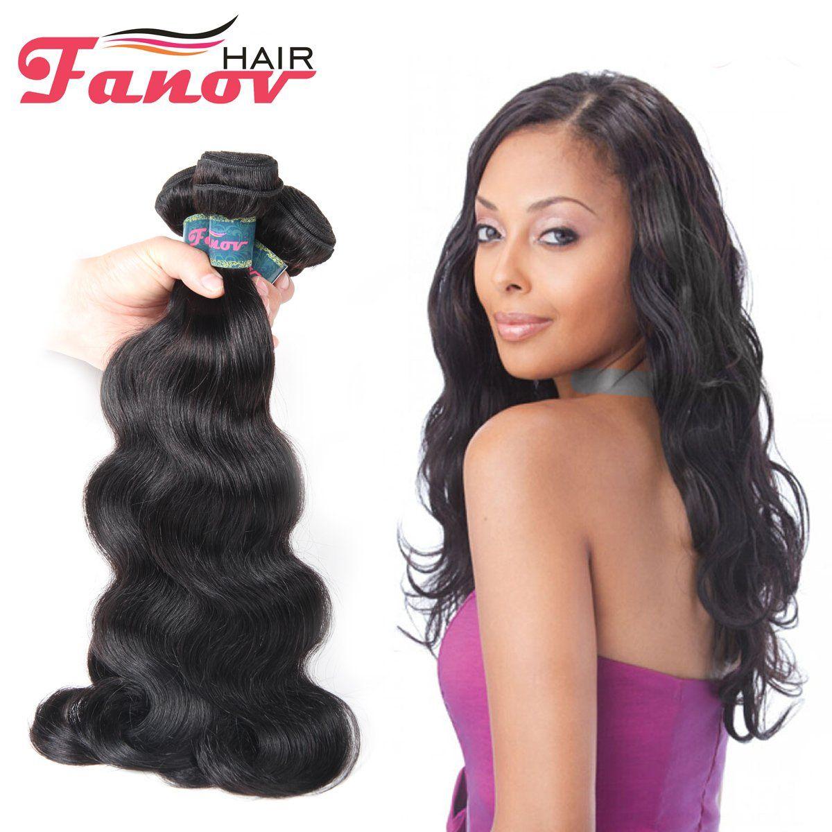 Unprocessed Brazilian Body Wave Remy Hair Natual 22 24 26 Black