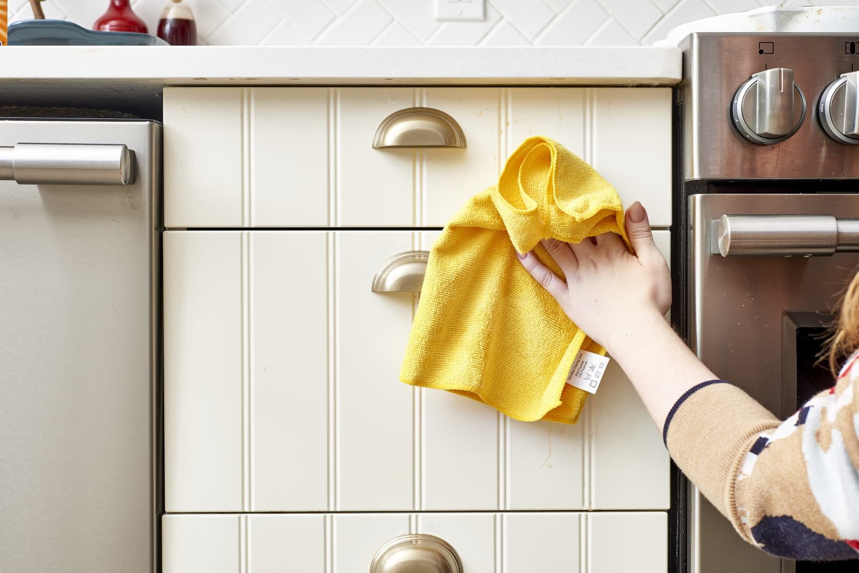 How to get sticky cooking grease off cupboards cleaning