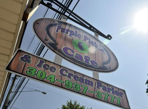 In Buffalo, WV, the Purple Pickle Cafe & Ice Cream Parlor has become popular because of their delicious sandwiches, gourmet ice cream, and great service. Oh, and their purple pickles.