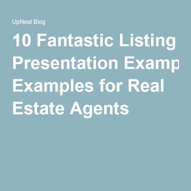 Fantastic Listing Presentation Examples For Real Estate Agents - Listing presentation template