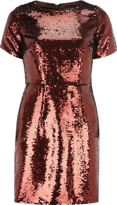 15f05af72ad8 Womens Bronze Sequin Shift Dress Orange  Dorothy Perkins  Shifts  Dorothy  Perkins  fashion  obsessory  fashion  lifestyle  style  myobsession