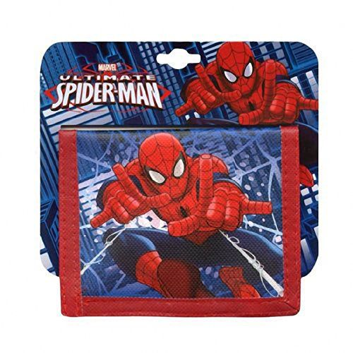 Wallet Bifold Non-Woven Marvel Hero Spider Man Kid Party Favor New