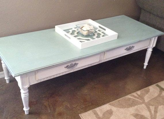 Refinished Ethan Allen Ocean Blue And Antique By TwistedVintageAz, $150.00