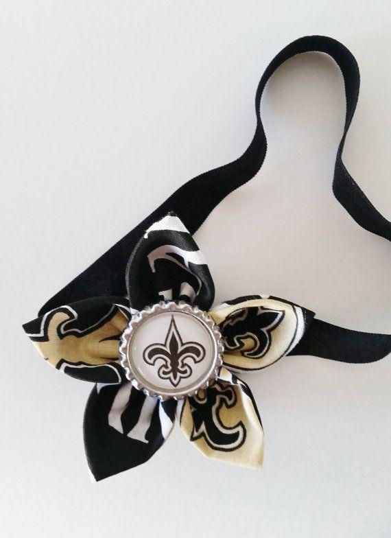 New Orleans Saints Headband Football by LilLoveBugsCreations 91812c0b213