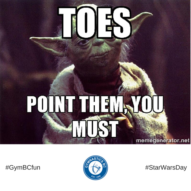 """""""May The 4th"""" Be With You As You Point Your Toes ;"""