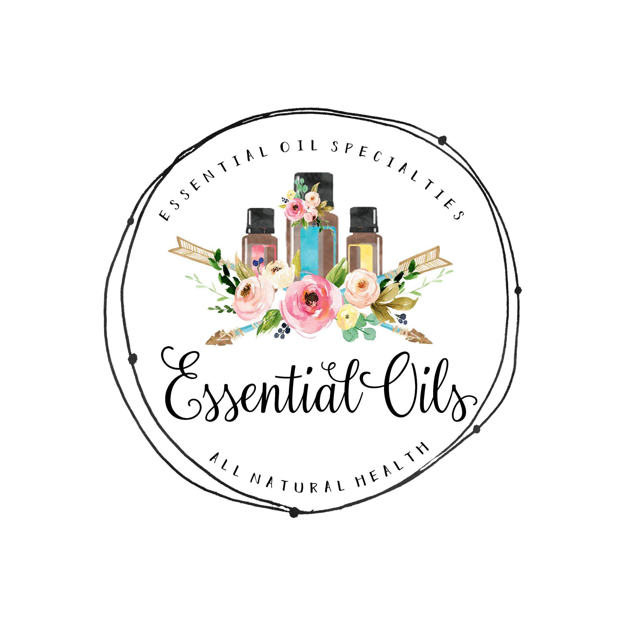 Premade Logo Essential Oils Round Premade Logo Photography Logo Boutique Logo Logo Design Logo Br Essential Oils Essential Oils Quotes Beauty Logo Design