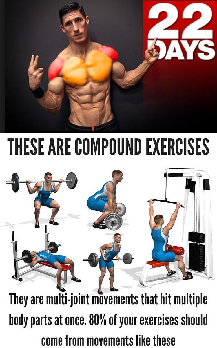 5 EXERCISES COMPOUND ON 22 DAYS (With images) Workout