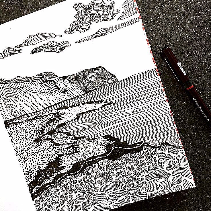 Zeichnen in meinem Skizzenbuch #art #artist #sketchbook #drawing #hastings - ##art #artist #drawing #hastings #meinem #sketchbook #skizzenbuch #zeichnen