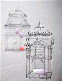 vogelk fig zartes vogelh uschen aus drahtgeflecht zum dekorieren wundersch n zu ostern mit. Black Bedroom Furniture Sets. Home Design Ideas