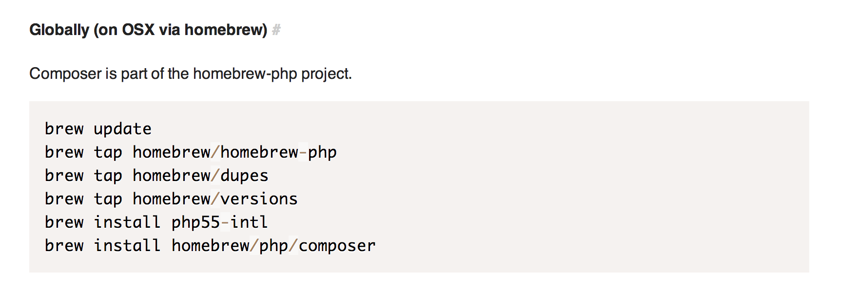 mac brew install php intl